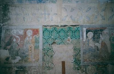 A berethalmi templomvár - sekrestye késő-gótikus kifestése