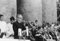 Tóth Károly református püspök a magyarországi egyházak nevében búcsúzik Lékai Lászlótól