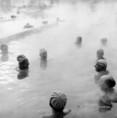 Téli fürdőzők a Dagály strandon