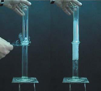 Ammónia és hidrogén-klorid-gáz reakciója