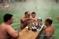 Újév napján a Széchenyi Gyógyfürdőben