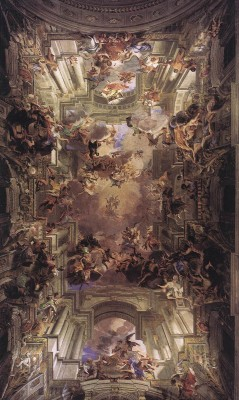 Andrea del Pozzo: Loyolai Szent Ignác megdicsőülése