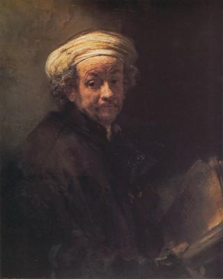 Rembrandt: Önarckép Pál apostolként