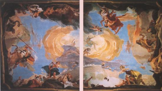 Giambattista Tiepolo: Az ékesszólás diadala. 1724-25. Velence, Palazzo Sandi. Freskó.
