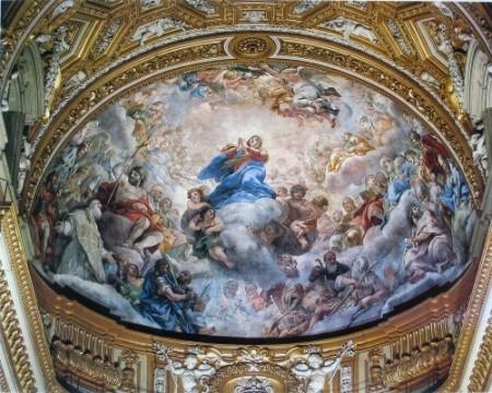 Pietro da Cortona: Mária és a szentek közbenjárása