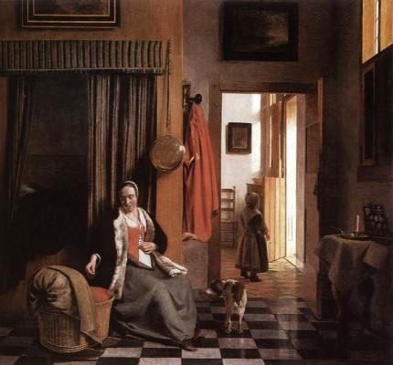 Pieter de Hooch: Anya gyermekével