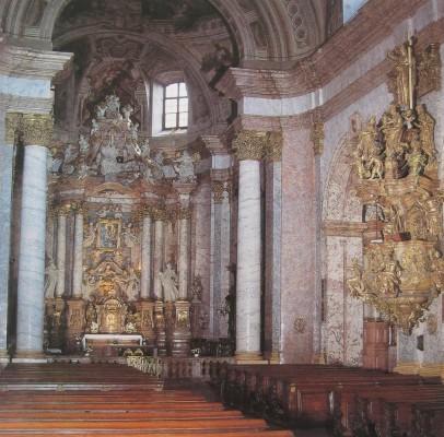 Nagyszombat, jezsuita templom, belső, 1629-37.