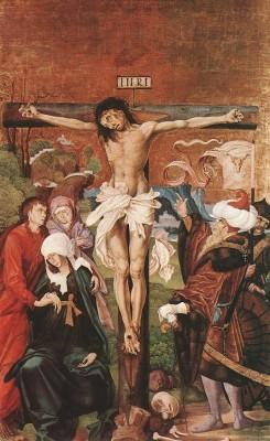 MS. Mester: Kálvária-oltár: Krisztus a kereszten