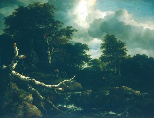 Jacob van Ruisdael: Tölgyerdő vízeséssel