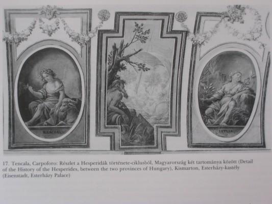 Carpoforo Tencala: A kismartoni Esterházy-kastély dísztermének freskói, 1674.