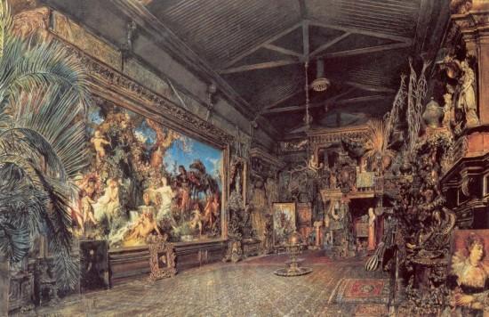 Alt, Rudolf von: Hans Makart műterme annak elárverezése előtt. 1885. Historisches Museum der Stadt Wien.