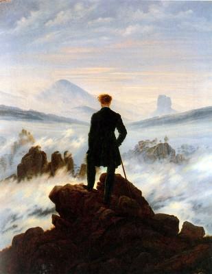 Friedrich, Caspar David: Vándor ködfelleg felett. 1818. Kunsthalle, Hamburg.