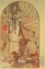Mucha, Alfons Maria: Salambbó (illusztráció Gustave Flaubert regényéhez). 1896. Magyar Képzőművészeti Egyetem, Budapest.