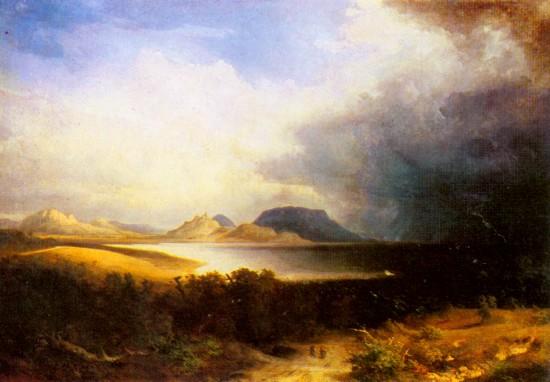 Brodszky Sándor: Kilátás a Balatonra (Vihar a Balatonon). 1851. Magyar Nemzeti Galéria, Budapest.