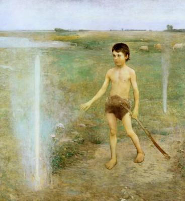 Iványi Grünwald Béla: Isten kardja (Hadúr kardja). 1890. Magyar Nemzeti Galéria, Budapest.