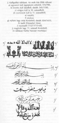 Kalligráfiai táblázat