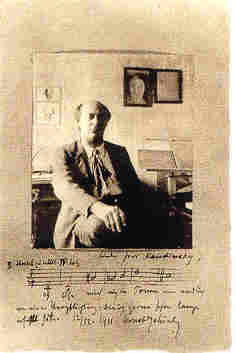 Schönberg fényképe 1911-ből