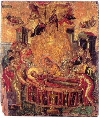 Mária elszenderedése, részlet