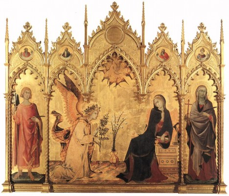 Simone Martini: Angyali üdvözlet oltárkép