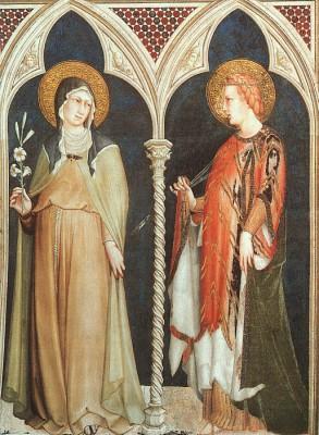 Simone Martini: Szent Klára és Szent Erzsébet