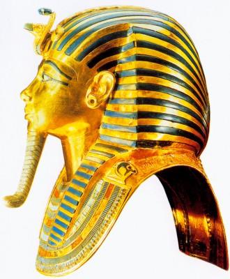 Tutanhamon fáraó halotti maszkja.
