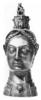 Női fejet mintázó aquamanile