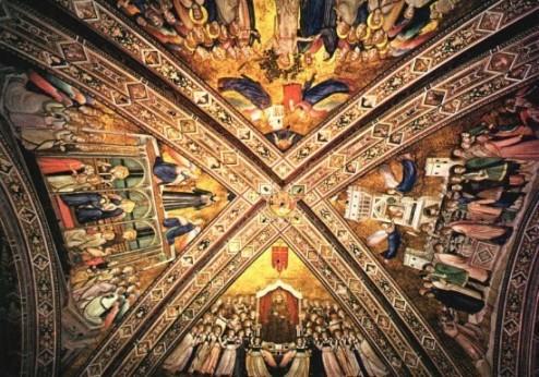 Giotto : A ferences erények allegóriája