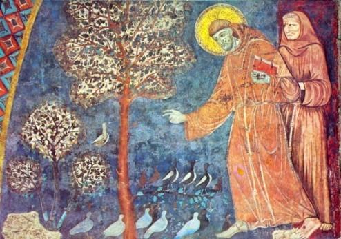Szent Ferenc mester: Assisi Szent Ferenc prédikációja a madaraknak