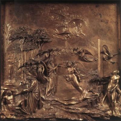 Lorenzo Ghiberti: Porta del Paradiso, Teremtés