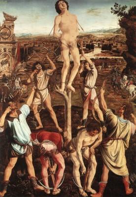 Antonio del Pollaiuolo: Szent Sebestyén mártírhalála