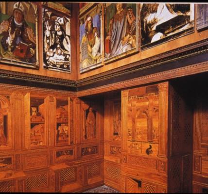 Urbino, Palazzo Ducale, studiolo, 15. század.