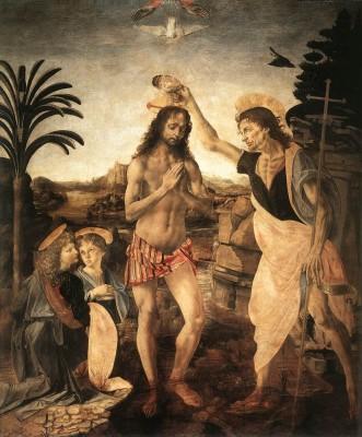 Andrea del Verrocchio és Leonardo da Vinci: Krisztus megkeresztelése
