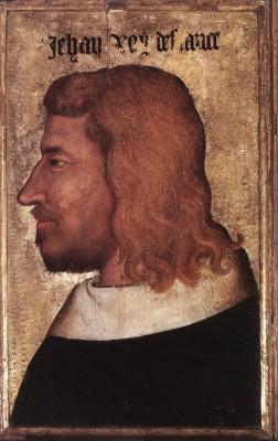 Francia festő: II. (Jó) János arcképe