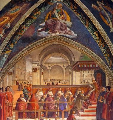 Domenico Ghirlandaio: A ferences regula megerősítése