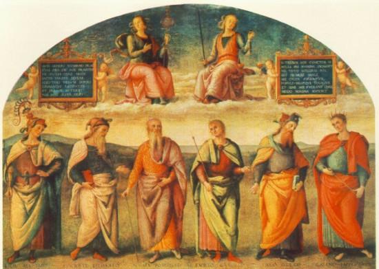 Pietro Perugino: Erények és Uomini famosi
