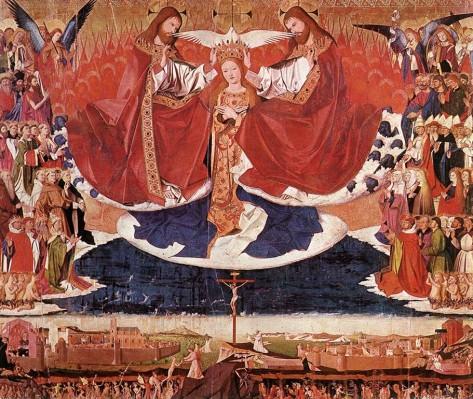Enguerrand Charonton (Quarton): Mária megkoronázása