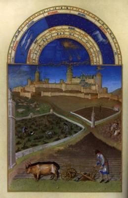 Március hónap, Tres Riches Heures de Duc de Berry