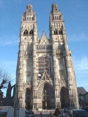 Tours: Saint-Gatien székesegyház, homlokzat, 1440 k. - 1537