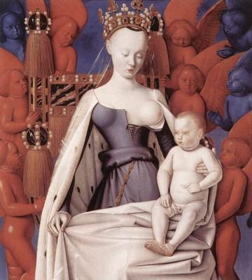 Jean Fouquet: Madonna gyermekével
