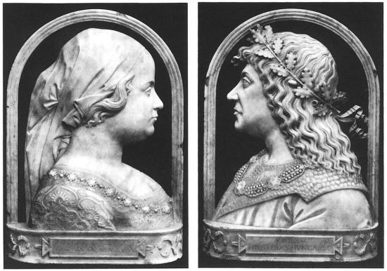 Lombard művész: Corvin Mátyás és Aragóniai Beatrix portréja