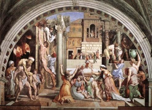 Raffaello: Borgo égése