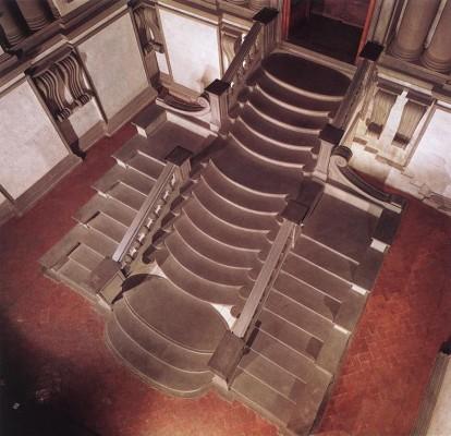 Jacopo Ammannati: A Biblioteca Laurenziana bejárati csarnokának lépcsője