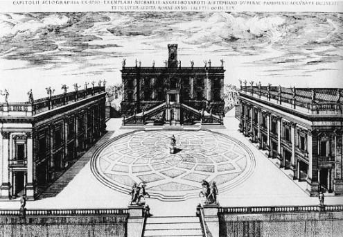 Capitolium, Etienne Duperac metszete