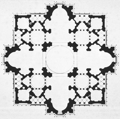 Donato Bramante: Tervrajz a Szent Péter bazilikához