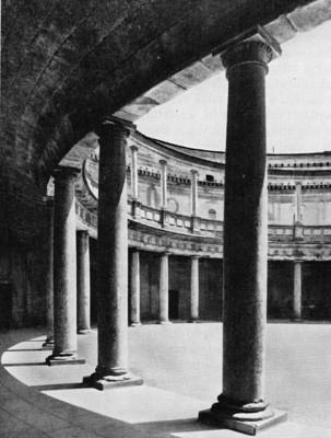 V. Károly palotájának udvara