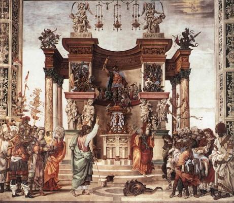 Filippino Lippi: Szent Fülöp kivezeti a sárkányt a hieropoliszi templomból