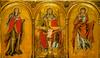 Szentháromságot jelképező kép Mária és Szent János evangélista között. Eredetileg a soesti Weisenkirche oltárképe.