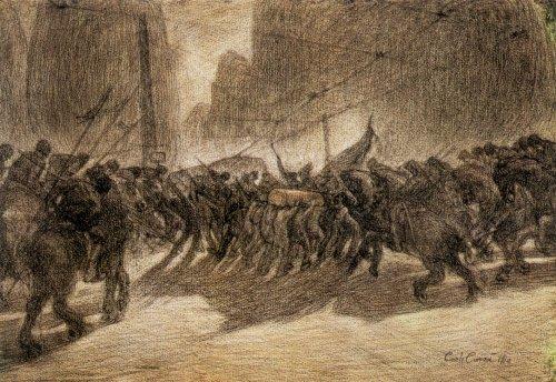Carlo Carr: Az anarchista Galli temetése