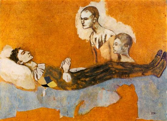 Pablo Picasso: Halott harlequin