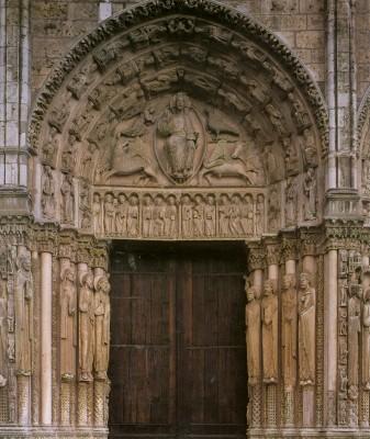 Chartres, Notre-Dame székesegyház, a királykapu (nyugati kapuzat)
